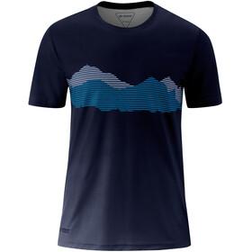 Maier Sports Ludo Camiseta Manga Corta Hombre, azul